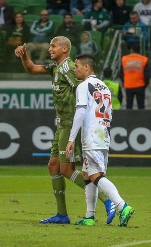 Deyverson fez o gol do Palmeiras