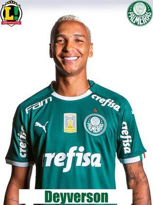 Deyverson - 5.0 - Perdeu uma grande chance para o Palmeiras passar à frente do marcador.