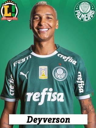 Deyverson – Sem nota - Voltou a vestir a camisa do Palmeiras. Entrou no fim e fica sem nota.