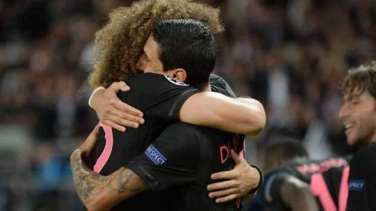 Dí María e David Luiz: jogaram juntos no Benfica e no PSG.