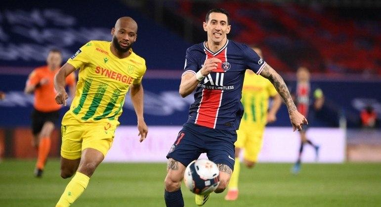 Di María foi substituído no final do jogo com o Nantes após ter a casa assaltada