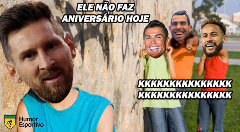 Dia 5 de fevereiro é marcado pelo aniversário de três grandes nomes do futebol mundial: Cristiano Ronaldo, Neymar e Carlito Tévez. A data especial sempre rende brincadeiras entre os torcedores e, nesse ano, o Humor Esportivo relembra algumas vezes que os craques brasileiro e português viraram meme nas redes sociais. Confira!