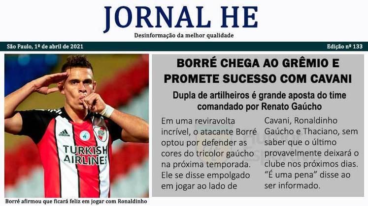 Dia da Mentira: as manchetes improváveis do futebol com o Jornal HE