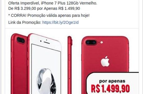 Promoção falsa de iPhone para o Dia dos Pais