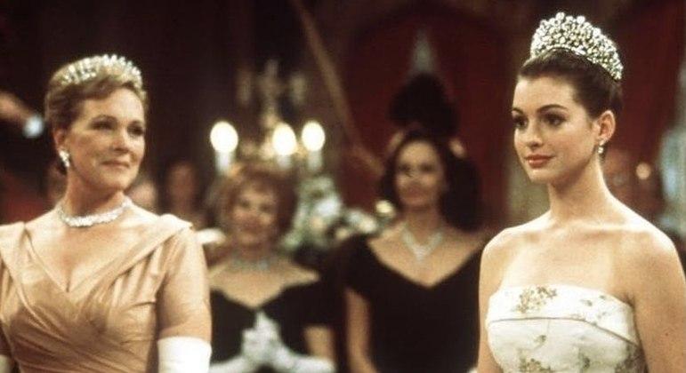 Anne Hathaway compartilhou imagens de 'O Diário da Princesa' na redes sociais
