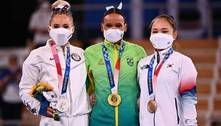 Rebeca Andrade dá show nos saltos e leva o ouro na Olimpíada de Tóquio