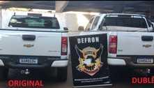Camionete roubada é encontrada com placas adulteradas