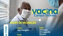 Unidades de saúde e drive-thru vacinam idosos com 80 anos ou mais neste sábado