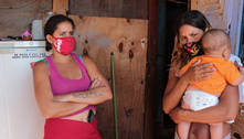 Desempregadas, irmãs dividem o teto com nove crianças no  Jardim Noroeste