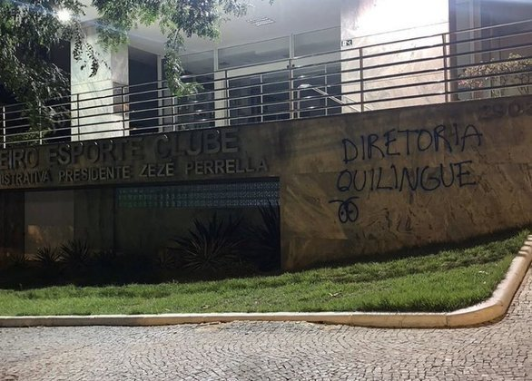 Dias depois, cruzeirenses voltaram a usar termo pouco usual chamando a diretoria de 'quilingue' (cultura da corrupção, desonestidade - 26/11/19)
