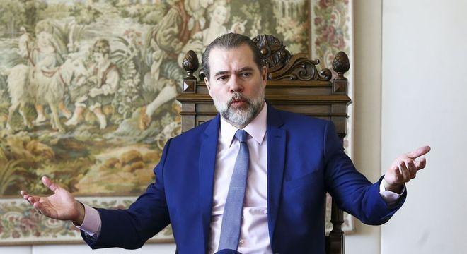 O ministro Dias Toffoli, que prorrogou prazo de grupo de trabalho