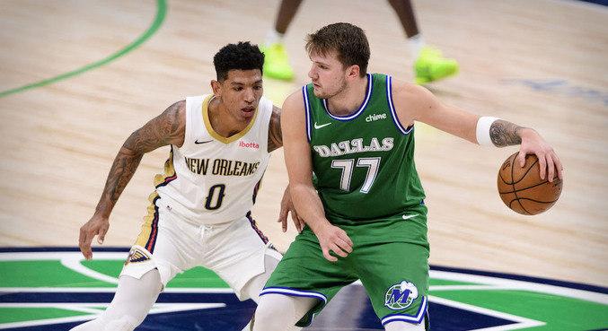 Didi estreou na NBA na derrota dos Pelicans para os Mavs, de Luka Doncic
