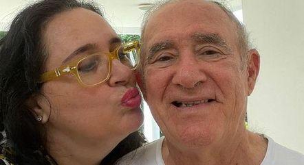 Didi ganhou beijo carinhoso da mulher