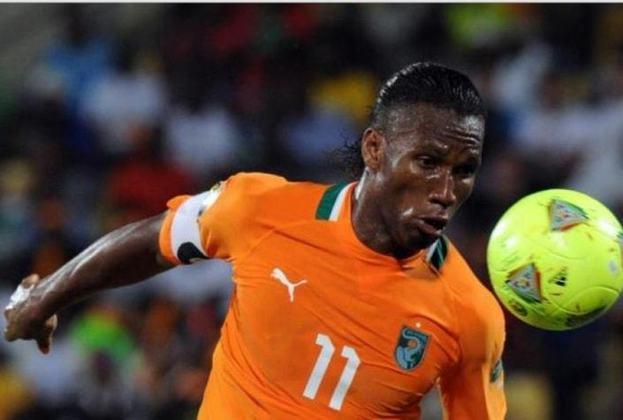 Didier Drogba: 65 gols em 104 jogos pela seleção da Costa do Marfim.