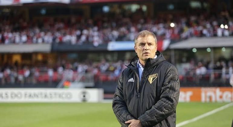 O uruguaio Diego Aguirre, ex-jogador e treinador do São Paulo, tem defensores no Morumbi