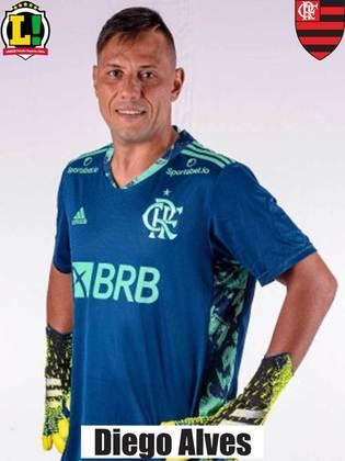 Diego Alves - 5,5 -  Depois de quatro rodadas sem sofrer gols na competição, falhou duas vezes.