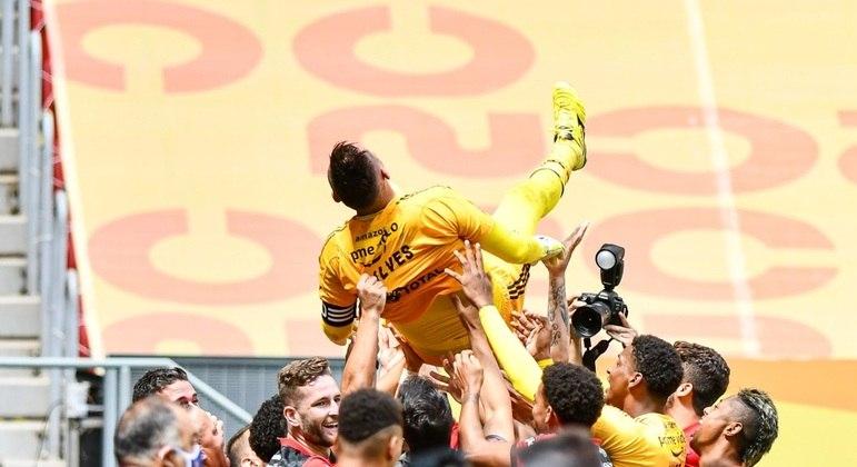 Diego Alves foi o grande herói do título do Flamengo