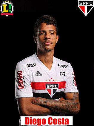 Diego Costa - 5,5 - Surpresa no jogo de hoje, o jogador foi regular como terceiro homem na linha de zagueiros. No lance do gol, falhou na marcação de Bruno Henrique, deixando o atacante sozinho dentro da área.