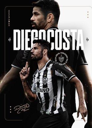 Galo postou imagem de Diego Costa com a camisa do clube