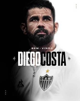 Diego Costa - Clube: Atlético-MG - Disputou as Copas do Mundo de 2014 e 2018 pela Espanha