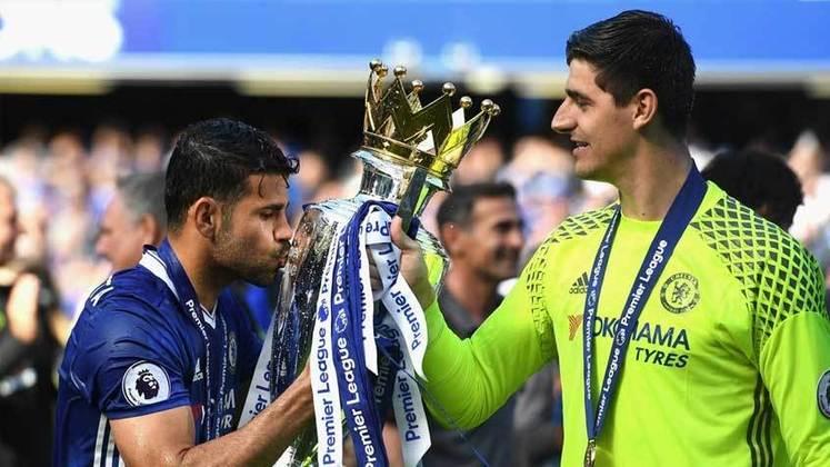 Diego Costa e Courtois: jogaram juntos no Atlético de Madrid e no Chelsea.