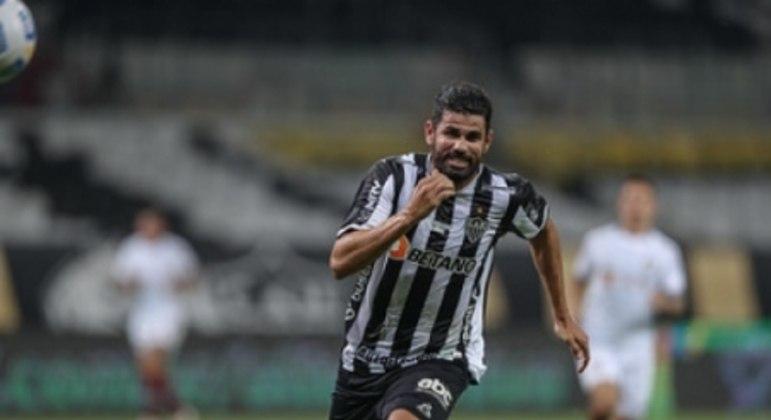 Diego entrou no segundo tempo, teve boa movimentação e quase marcou para o time mineiro