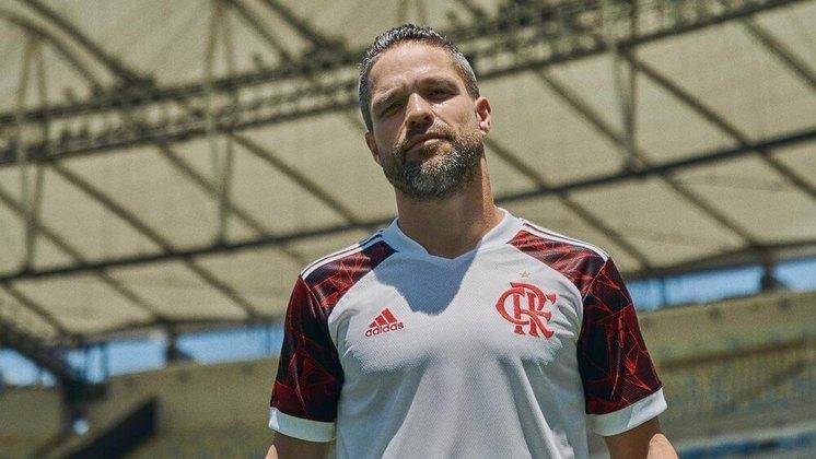 Diego participou da sessão de fotos no Maracanã.