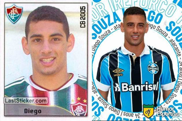 Diego Souza jogou pelo Fluminense em 2005. Inicia o Brasileirão 2020 com 35 anos e jogando pelo Grêmio