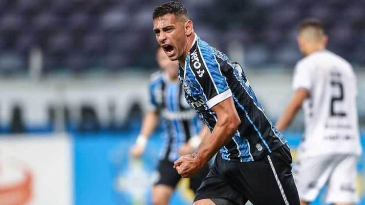 Diego Souza - Posição: Atacante - Clube: Grêmio - Idade: 36 anos - Valor de mercado segundo o Transfermarkt: 1,5 milhões de euros (aproximadamente R$ 9,29 milhões) - Contrato até: 31/12/2021.