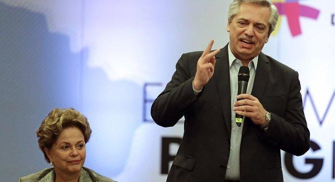 Dilma e Fernández em encontro do Grupo de Puebla: reunião de políticos de esquerda da América Latina foi criado em oposição ao Grupo de Lima, que reconhece Juan Guaidó como presidente da Venezuela
