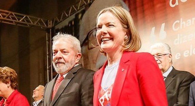 Dilma, Lula e Gleisi Hoffmann