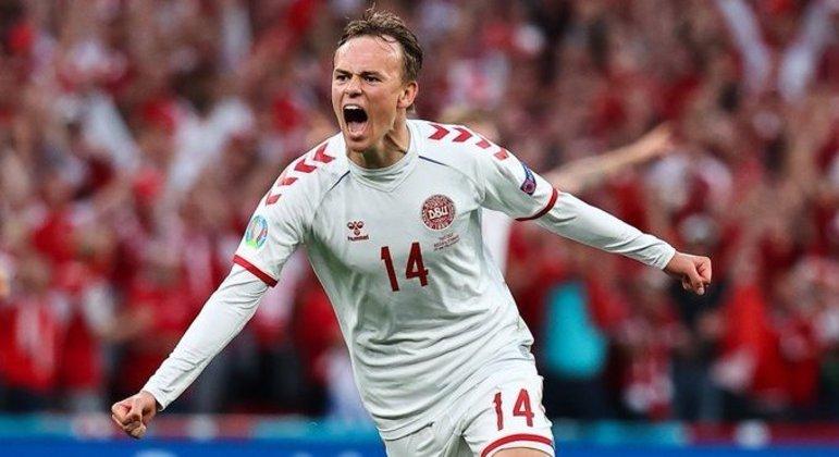Damsgaard, a justa euforia depois do golaço, Dinamarca 1 X 0 Rússia