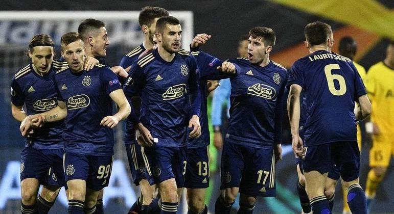 A festa dos croatas do Dinamo Zagreb