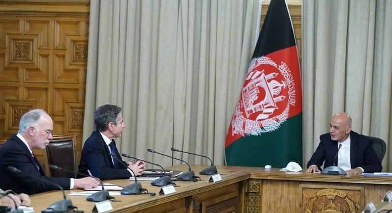 Secretário de Estado americano, Antony Blinken, em visita oficial ao Afeganistão