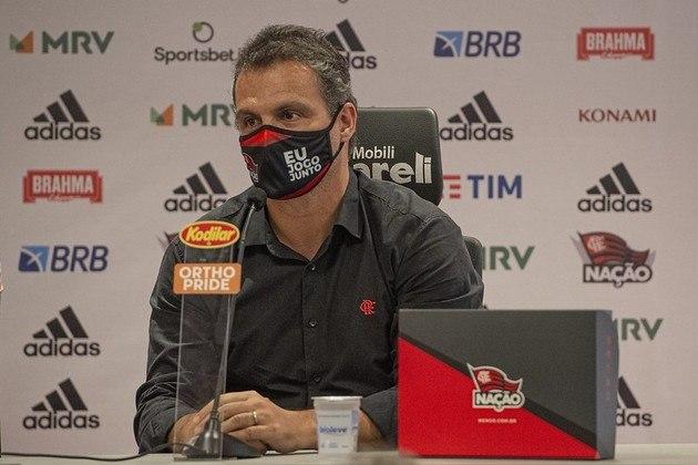 Diretor de futebol, Bruno Spindel também acompanhou a coletiva de Rogério Ceni