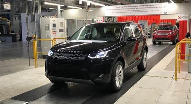 Discovery Sport deixando a linha de produção da Jaguar Land Rover em Itatiaia/RJ