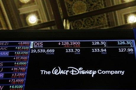 Logotipo da Walt Disney na Bolsa de Valores de NY