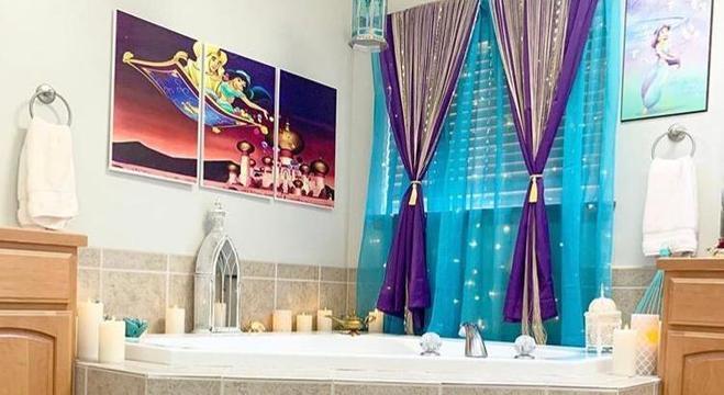 O banheiro inspirado em Aladdin