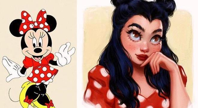 Minnie também virou uma mulher em desenho de Isabelle