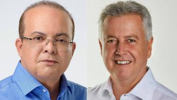 Eleitores vão escolher entre Ibaneis Rocha e Rodrigo Rollemberg (Montagem R7/Divulgação/Facebook)