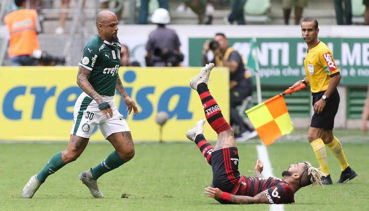 Dívida total (dívida com empréstimos): Flamengo - R$ 511 milhões (R$ 53 milhões); e Palmeiras - R$ 501 milhões (R$ 172 milhões)