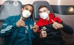 Jogadores do Bayern em voo para o Catar para disputar o Mundial de Clubes
