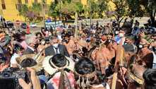 Após protesto e confronto com policiais, indígenas voltam ao Congresso