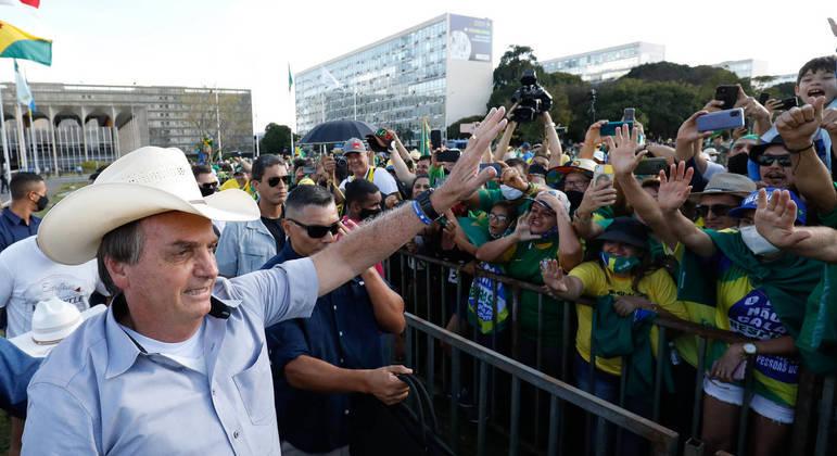 Bolsonaro está entre Partido da Mulher e PRTB