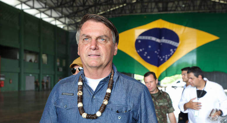 Bolsonaro durante sua visita ao Amazonas no fim de semana