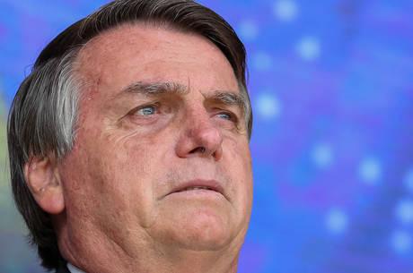 Na imagem, o presidente Jair Bolsonaro