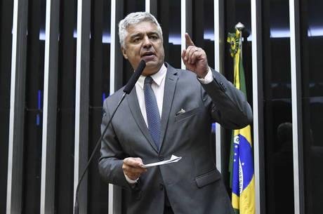 Na imagem, líder do PSL no Senado, major Olimpio