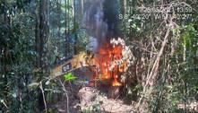 PF estoura garimpo ilegal em terra indígena e queima máquinas no PA