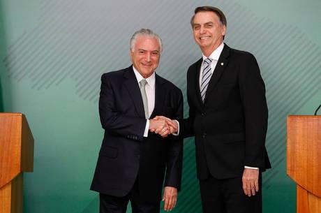 Temer e Bolsonaro conversaram por telefone