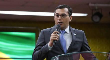 Na imagem, governador do Amazonas, Wilson Lima